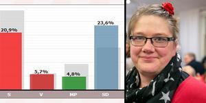I Insjön har SD gått om S i årets EU-val.