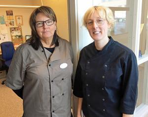 Marie Holmberg, kostchef och Emilia Norberg , produktionschef vid storköket i Härnösand.