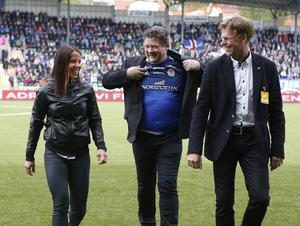 Charlotte Kalla på plats i derbyt mellan GIF Sundsvall och Östersund år 2016.