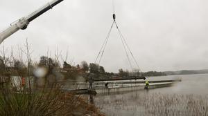 Bild från bygget av bron.