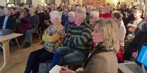 Till bredden fullt församlingshem i Moliden februari 2016.
