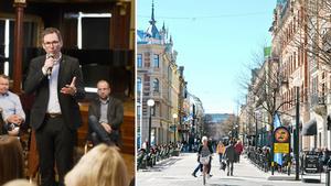 Peder Björk inledde workshopen - där målet var att diskutera om hur Sundsvall ska bli årets stadskärna 2021. Bild: Jenny Toresson/Leif Johansson