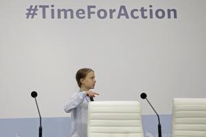 Greta Thunberg på klimamötet Cop25. Länderna lyckades inte komma överens, men hellre