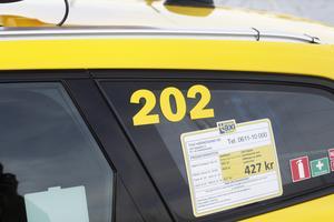 Även taxinumret är en palindrom.