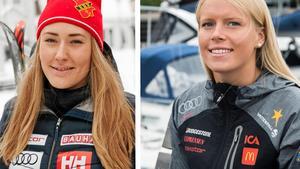 Lin Ivarsson och Lisa Hörnblad gör världscupdebut i helgens alpina världscup.Bild: Emma Rodling & Sören Häggkvist.