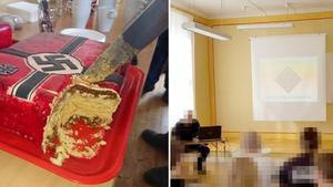 Näste 4:as medlemmar träffades den 21 april och efter föredragen i Rudegården bjöds det på tårta.
