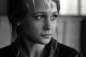 Ann-Sofie Kylin under inspelningen av