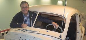 I omkring tio år har Per-Olof Westlund haft en Chevrolet 1946 stående för renovering hemma i garaget.