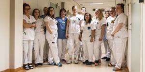 Personal vid kirurgavdelningen på Östersunds sjukhus.