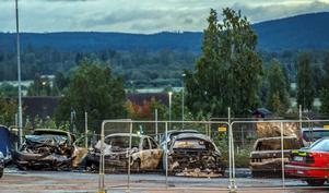 Bilbrand på Volvo: Foto Niklas Hagman