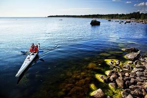 Passa på att paddla kajak eller kanot i sommar – det finns flera uthyrare och flera vatten att paddla i.