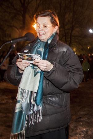 Kommunstyrelsens ordförande Caroline Schmidt höll tal om det gångna året.
