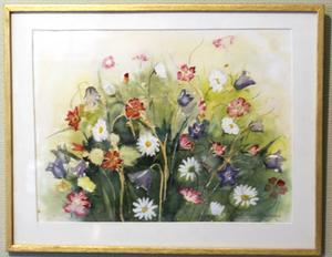 En av Britt Pihlqvist Ericssons målningar.