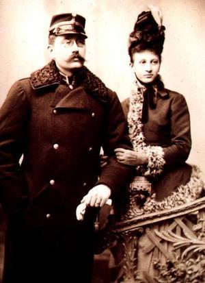 Haegerstrands dotter Hildur med sin Axel. Vilda Västern i New York 1892.