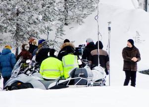 """""""The American"""" med George Clooney såg till att lilla Singsjön fick stor uppmärksamhet.foto: ulrika Andersson, AP"""