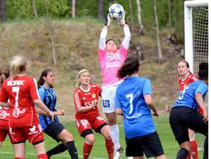 Kristen Morency i Gustafsmålet höll nollan för tredje matchen i rad.