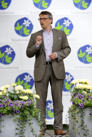 Kristdemokraterna. Göran Hägglund presenterade under söndagen tankar om ett starkt ¿samhälle snarare än en stark stat.foto: scanpix