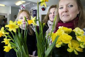 Floristerna på Camomillas blommor i Tierp Lisa Lugnfors Asplund, Lena Holmström och Camilla Hammarson som också äger butiken.