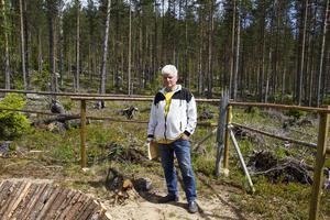 Tore Berglund hoppas på besökare till älggropen.