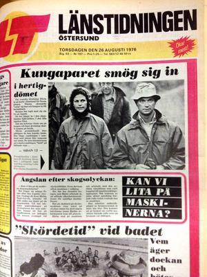 LT:s förstasida, torsdag 26 augusti 1976.