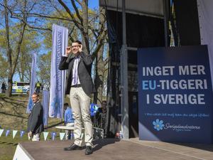Jimmie Åkesson talade på Sverigedemokraternas EU-valsupptakt häromdagen.