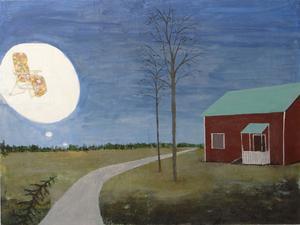 Där solen aldrig ler, olja på pannå, Fredrik Lindberg.