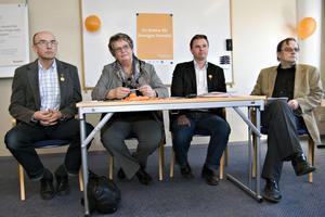 Tre riksdagsmän och en länsordförande skulle vara Alliansens öra i Hälsingland.