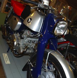 Välvårdad. En Honda CB 92 från 1963 är nästintill polerad ner till plåten. Foto:Christian Larsen