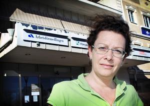 Sara Dahlin under sin tid på Arbetsförmedlingen i Sala och Heby.