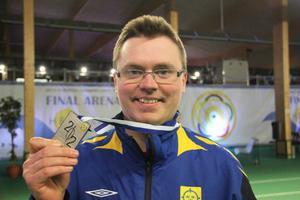 Emil Martinsson tog silver vid fjolårets luft-EM. Kan det bli ett snäpp bättre i Danmark i februari?Arkivbild: Svenska Skytteförbundet