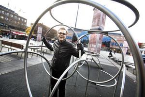 STOLT. Mats Pierrou, kommunens projektledare för ombyggnaden av Stortorget.