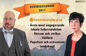Ledarsidan och dess politiska redaktörer Patrik Oksanen och Lilian Sjölund kan vinna fem priser i Almedalen.