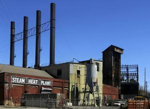 Steam Heat Plant på North Avenue är den enda industrianläggning som finns kvar i centrala Youngstown.
