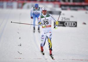 Johan Olsson kom fyra i comebacken på världscupen.