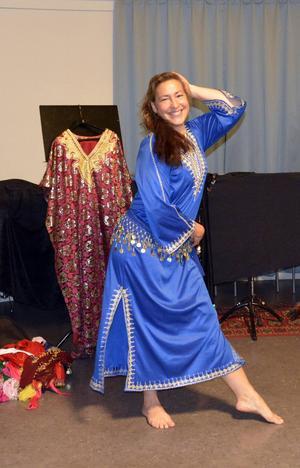 Annelie Lindeberg har dansat orientalisk dans i flera år.
