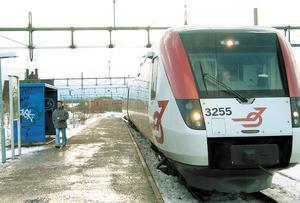 SJ/Tåg i Bergslagen trafikerar sträckan Västerås-Fagersta.