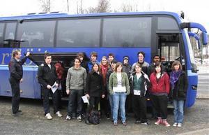 GB-skolans Naturvetenskapliga program gör sig redo att åka till Umeå.