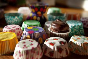 Fantasifulla formar och mycket färger är viktigt när man gör cupcakes.
