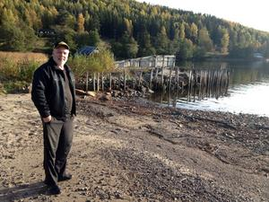 Hans Hansson är en av de drivande företagarna bakom restaureringen av småbåtshamnen i Veåsand.