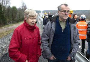 Marie-Louise och Robert Ekström bor precis intill vägen och var väldigt positiva inför den nya E4:an.