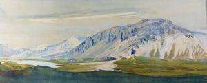 """Ásgrímur Jónssons målning """"Mt Ketillaguarfjallin Hornafjördur""""."""