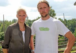 Johan Sjölund är en av initiativtagarna till Valla wellness, här tillsammans med Carolina Klüft.