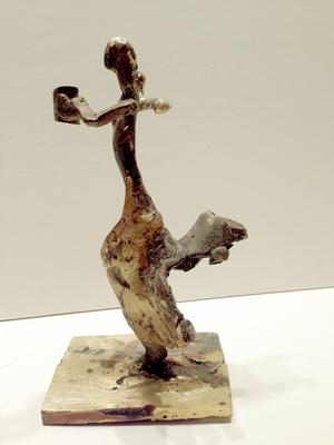 """""""Judith springer för sitt liv"""", 2016, av Annika Erixån."""