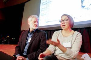 Mats Forslund på Världsnaturfonden WWF och Jenny Wik-Karlsson, förbundsjurist på Svenska samernas riksförbund, är överens om att vargdebatten måste rensas från hot och hat.