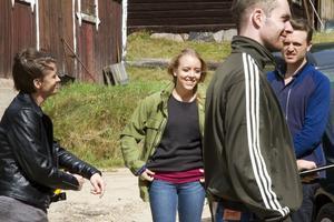 Caitlin Crommett har en av huvudrollerna i skräckfilmen A night in the cabin.