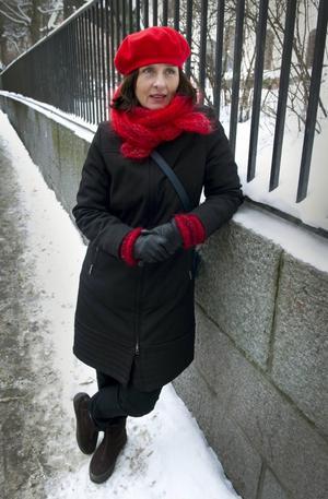 Susanna Alakoski gjorde årets första författarbesök på Kulturmagasinet i går kväll.