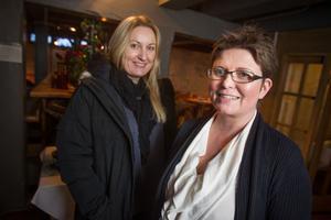 Maria Widemo (till höger) och Veronica Lauritzsen på länsstyrelsens natur- och viltenhet hade i torsdags ett givande möte i Söderhamn med länets yrkesfiskare.