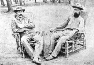 Stålberg och hans danska officerskollega Baerentzen, medan de var i fångenskap på Sri Lanka.