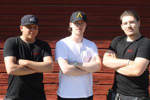 Från vänster: AndreasThornberg, Jon Sjöstedt, Max Nilsson. Trion har bildat en egen hockeyklubb, Gefle HC.