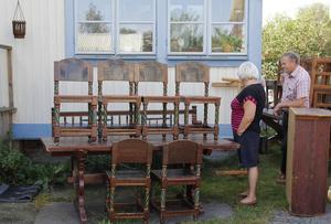 Många möbler, mycket allmoge på auktionen i Bjuråker.